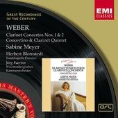 Weber : Clarinet Concertos 1 & 2/Concertino in E flat/Clarinet Quintet von Sabine Meyer