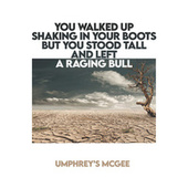 YOU WALKED UP SHAKING IN YOUR BOOTS BUT YOU STOOD TALL AND LEFT A RAGING BULL by Umphrey's McGee
