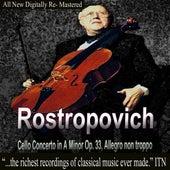 Rostropovich Cello Concerto in A Minor Op. 33, Allegro non troppo de Mstislav Rostropovich