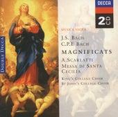 Bach, JS/Bach, CPE: Magnificats/Scarlatti: Messa di Santa Cecilia von The Choir of St. Johns College, Cambridge