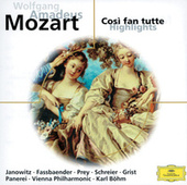 Mozart: Cosi fan tutte (Highlights) by Gundula Janowitz