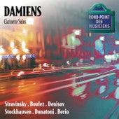 Stravinsky-Boulez-Denisov-Stockhausen-Donatoni-Berio-Recital de clarinette fra Alain Damiens