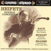 Bach: Concerto for Two Violins/Mozart: Sinfonia concertante/Brahms: Double Concerto de Jascha Heifetz