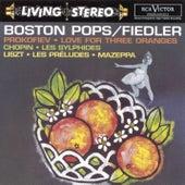 Prokofiev: Love for Three Oranges/Chopin: Les sylphides/Lizst: Les préludes; Mazeppa by Arthur Fiedler