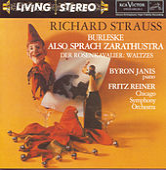 Strauss: Burleske; Also sprach Zarathustra; Der Rosenkavalier: Waltzes by Fritz Reiner