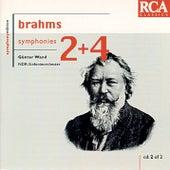 Brahms: Symphonies Nos. 2 & 4 by Günter Wand