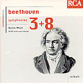 Beethoven: Symphonies 3 & 8 by Günter Wand