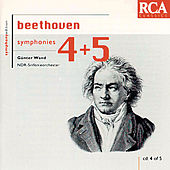 Beethoven: Symphonies Nos. 4 & 5 by Günter Wand