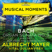 J.S. Bach: Organ Sonata No. 3 in D Minor, BWV 527 (Adapt. for Oboe and Harpsichord by Mayer and Frey) (Musical Moments) de Albrecht Mayer