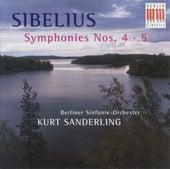 Jean Sebelius: Symphonies Nos. 4 and 5 (Berlin Symphony, K. Sanderling) de Berlin Symphony Orchestra Kurt Sanderling