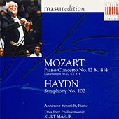 Mozart: Piano Concerto No. 12 - Haydn: Symphony No. 102 by Various Artists