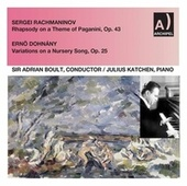 Rachmaninoff: Rhapsody on a Theme of Paganini, Op. 43 - Dohnányi: Variations on a Nursery Tune, Op. 25 by Julius Katchen