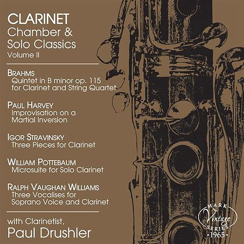 Clarinet Chamber & Solo Classics, Vol. 2 by Various Artists