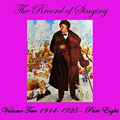 The Record Of Singing Volume 2, Part 8 by Various Artists