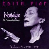 Nostalgie Vol.1 1933-1941 by Edith Piaf