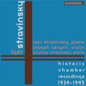 Stravinsky: Historic Chamber Recordings 1934-45 Duo Concertante, Serenade in A Major, Concerto for Two Pianos, Piano Rag von John Corigliano
