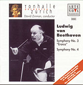 Beethoven: Symphonies Nos. 3 & 4 von Tonhalle Orchestra Zurich