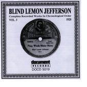 Blind Lemon Jefferson Vol. 3 1928 by Blind Lemon Jefferson