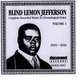 Blind Lemon Jefferson Vol. 1 (1925 - 1926) by Blind Lemon Jefferson