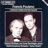 Complete Works For Two Pianos by Francis Poulenc