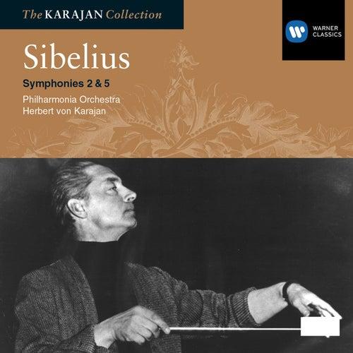 Sibelius: Symphony Nos 2 & 5 by Philharmonia Orchestra