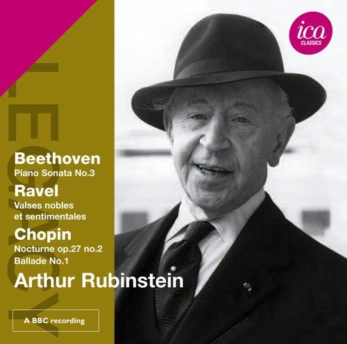 Beethoven: Piano Sonata No. 3 - Ravel: Valses nobles et sentimentales - Chopin by Arthur Rubinstein