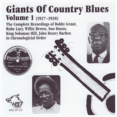 Giants of Country Blues, Vol. 1 (1927-1938) de Various Artists