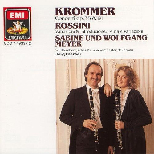 Krommer: Concertos for 2 Clarinets and Orchestra Op.35 & Op.91 / Rossini: Variations von Jörg Faerber