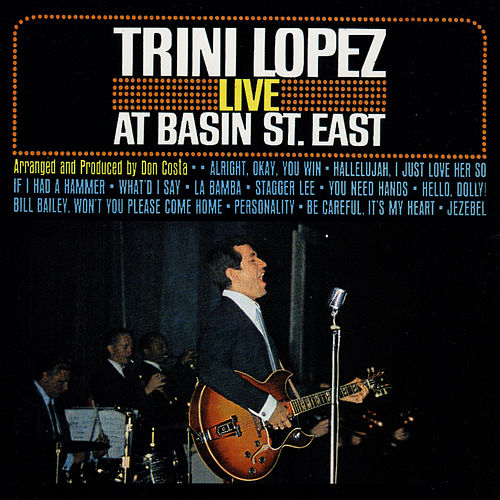 Live At Basin St. East de Trini Lopez
