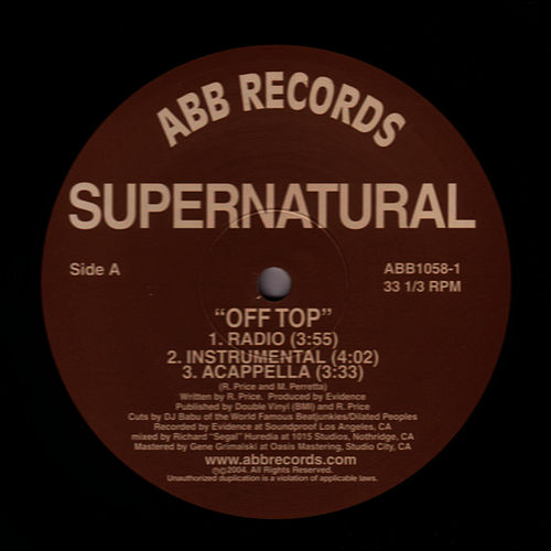 Off Top b/w S.P.I.T by Supernatural