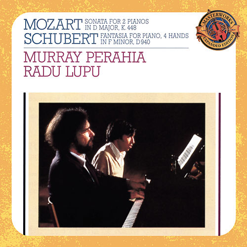 Mozart: Sonata for 2 Pianos in D Major, K. 448 - Schubert: Fantasie in F Minor, Op. 103, D. 940 von Radu Lupu
