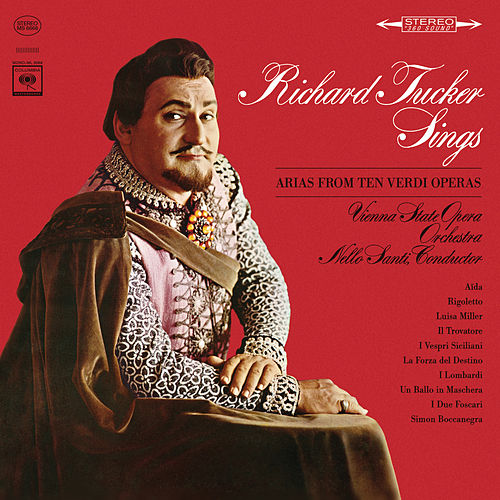 Richard Tucker Sings Arias from Ten Verdi Operas by Richard Tucker