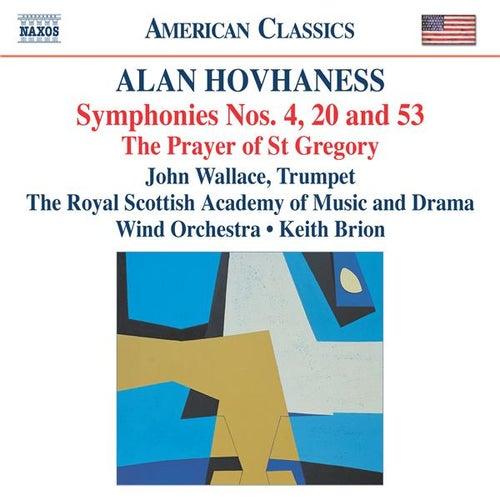 HOVHANESS: Symphonies Nos. 4, 20 and 53 de Various Artists