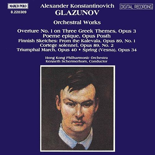 GLAZUNOV: Orchestral Works, Vol.  1 by Hong Kong Philharmonic Orchestra