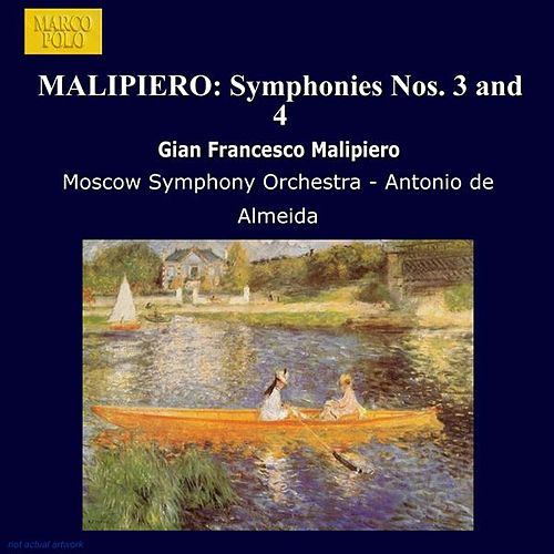 MALIPIERO: Symphonies Nos. 3 and 4 by Moscow Symphony Orchestra