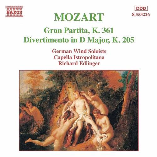 MOZART: Gran Partita / Divertimento, K. 205 di Various Artists