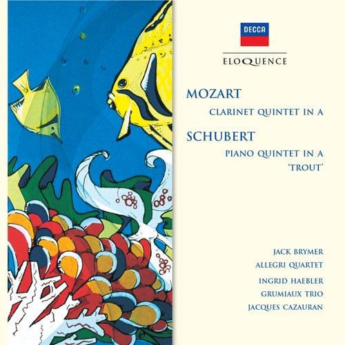 Mozart: Clarinet Quintet in A; Schubert: Piano Quintet in A - 'Trout' von Jack Brymer