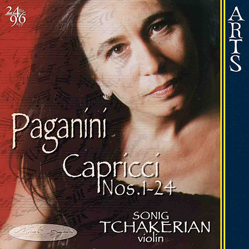 Paganini: 24 Capricci op. 1 for solo Violin by Sonig Tchakerian