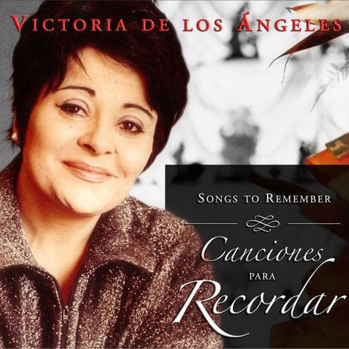 Canciones para Recordar de Victoria de los Ángeles