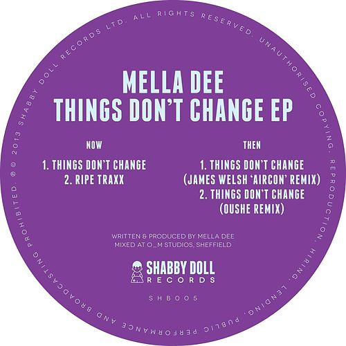 Things Don't Change EP (EP) von Mella Dee