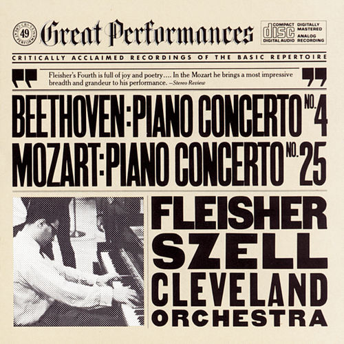 Beethoven:  Concerto No. 4 for Piano and Orchestra in G Major, Op. 58 and Mozart:  Concerto No. 25 for Piano and Orchestra in C Major, K. 503 de George Szell