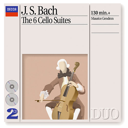 Bach, J.S.: The 6 Cello Suites von Maurice Gendron