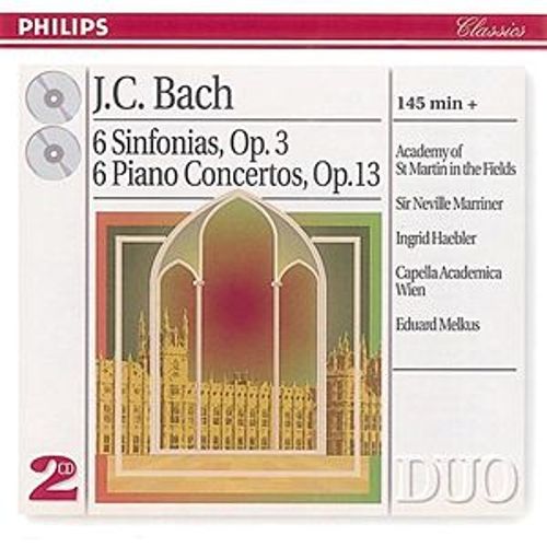 Bach, J.C.: 6 Sinfonias Op.3/6; Piano Concertos Op.13 von Academy Of St. Martin-In-The-Fields