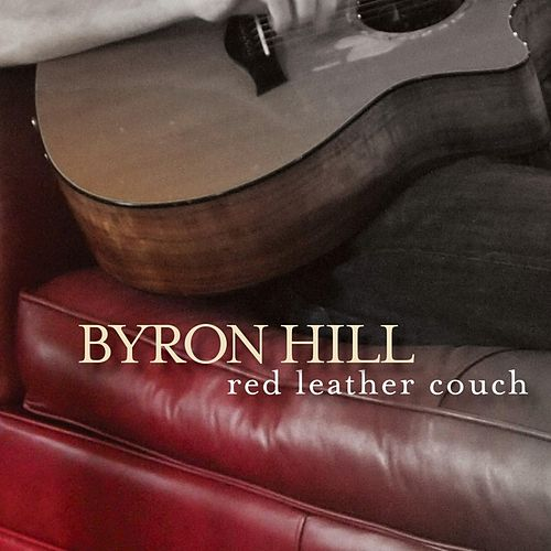 Red Leather Couch by Byron Hill