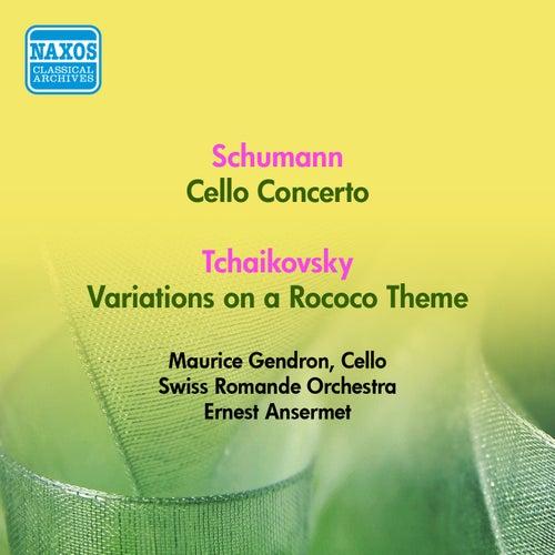 Schumann, R.: Cello Concerto / Tchaikovsky, P.I.: Rococo Variations (Gendron, Swiss Romande Orchestra, Ansermet) (1953) von Maurice Gendron