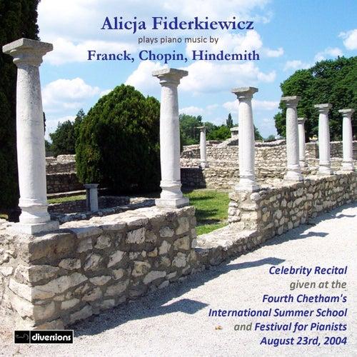 Franck, Chopin & Hindemith: Piano Music de Alicja Fiderkiewicz