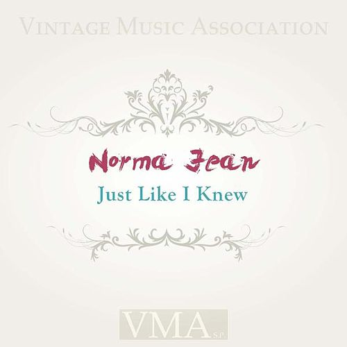 Just Like I Knew by Norma Jean