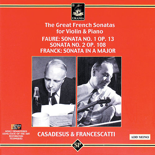 The Great French Sonatas for Violin & Piano de Zino Francescatti