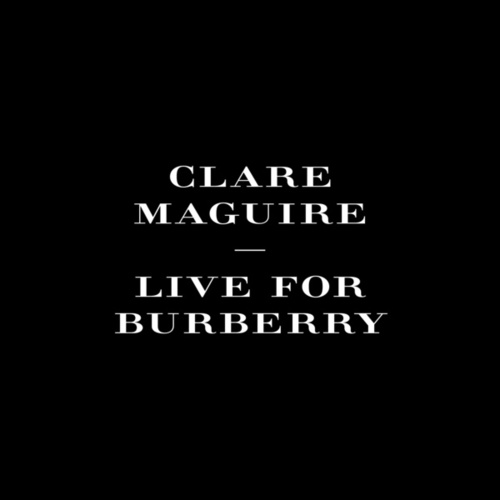 Live For Burberry de Clare Maguire