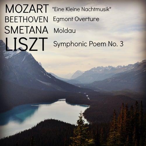 Mozart: 'Eine Kleine Nachtmusik' / Beethoven: Egmont Overture / Smetana: Moldau / Liszt: Symphonic Poem No. 3 von Berlin Philharmonic Orchestra